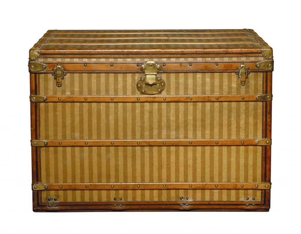 A mere four years after opening his store, Vuitton revolutionized the trade by displaying his first series of flat trunks, which to this day are considered the birth of modern luggage. Why? This innovative and elegant trunk was much lighter, resistant to odor and water, and rectangular in shape, which was perfect for stacking. The middle of the 19th century also witnessed a transportation boom following the invention of the steam engine, which meant that travelers required a new kind of luxurious baggage, further increasing demand for Vuitton's creations.
