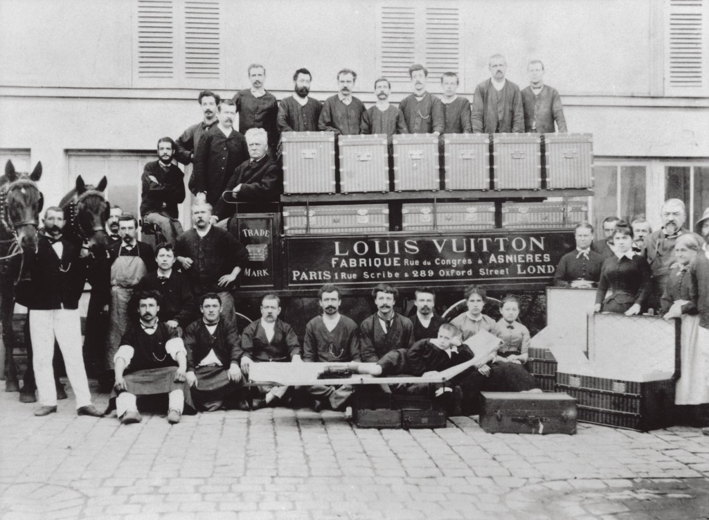 The heart of the Asnières workshops, pictured about 1888, when the company employed 30 people