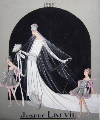 First Lanvin Wedding Dress