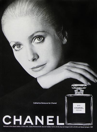 Catherine Deneuve the face of Chanel No. 5
