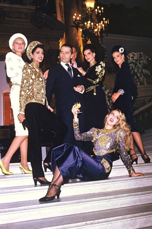 Karl Lagerfeld at Chanel in the 1980s