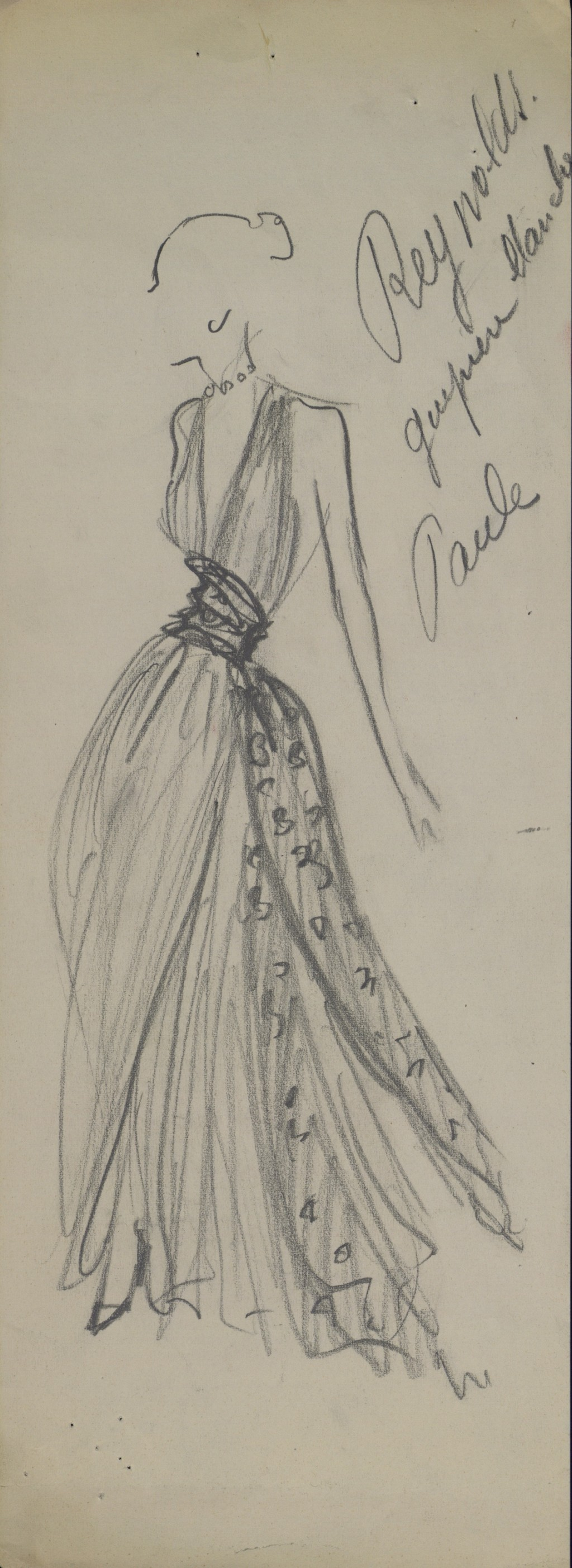 Christian Dior Early Sketch