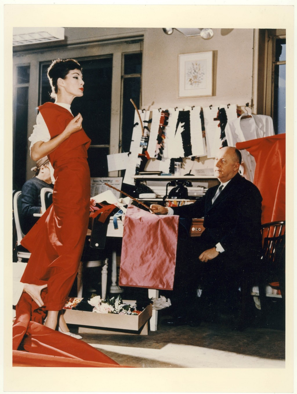 Dior Working in His Atelier