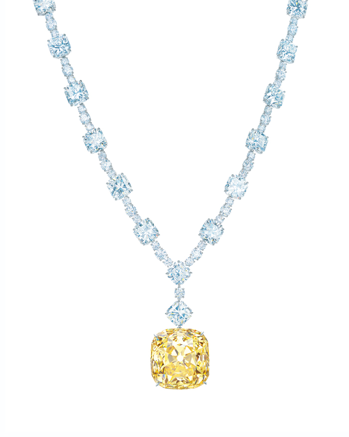 Tiffany & Co.'s 128-karat Yellow Diamond makes its final stop in Dubai before going back to New York.