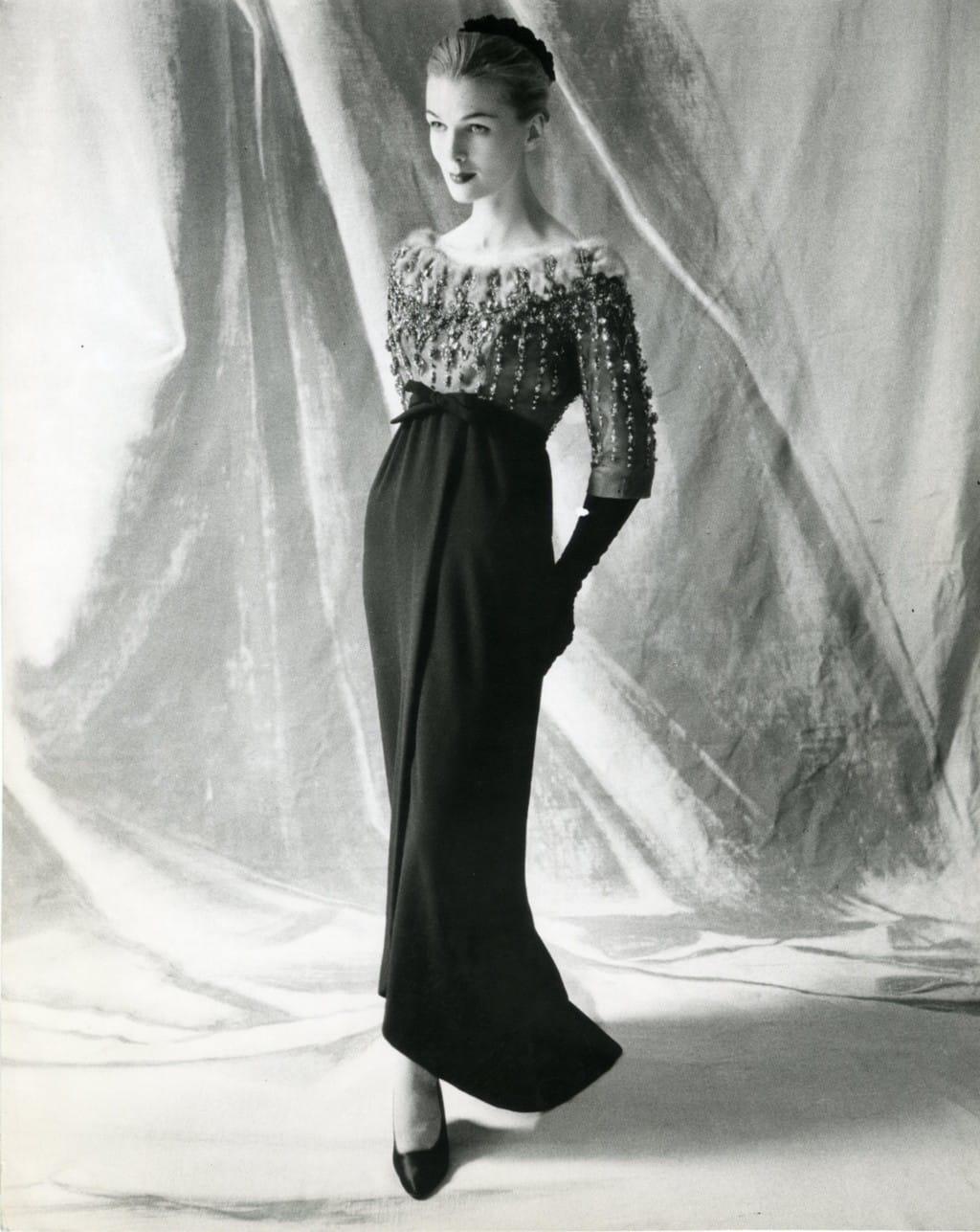 Cristóbal Balenciaga Haute Couture, Fall 1958 ©Balenciaga Archives Paris, Studio Kublin
