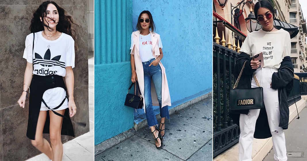 How It Girls Are Wearing Their White T-Shirts - Savoir Flair