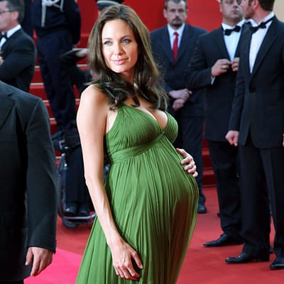 angelina-jolie-pregnant-twins photo: courtesy of delish