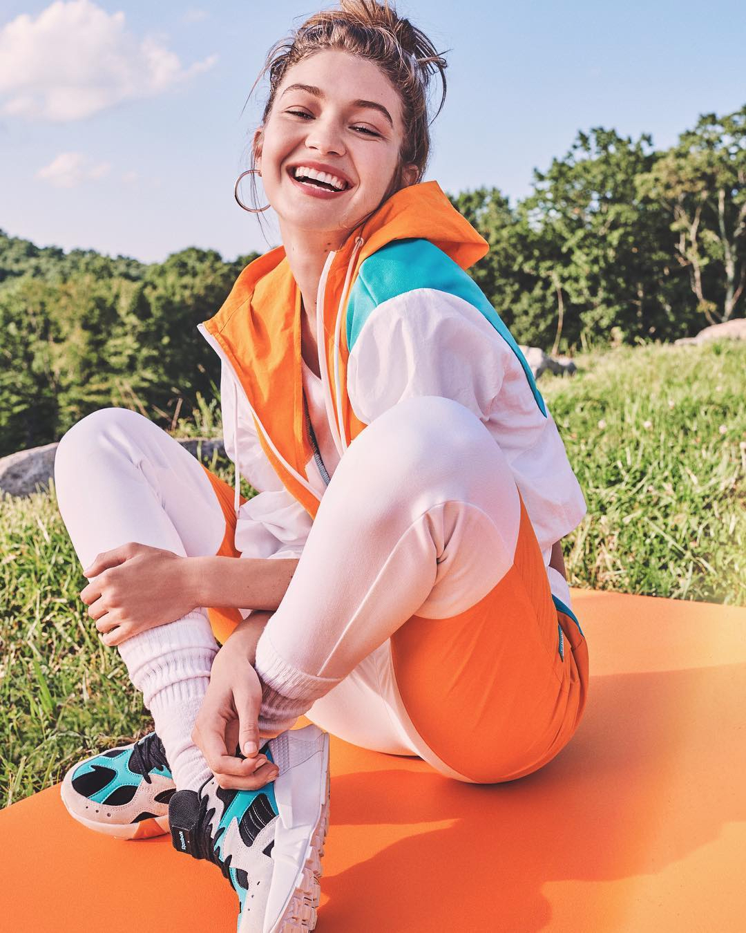 268b7d8ed85 See Everything From Gigi Hadid s Collaboration With Reebok - Savoir Flair